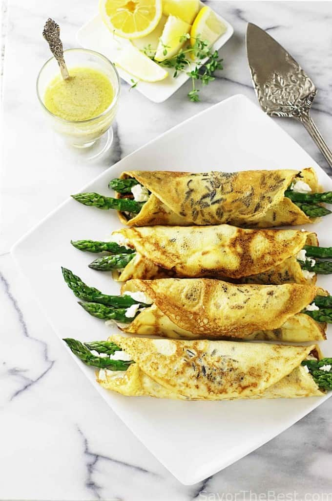 Wild Rice Crêpes With Hazelnut Pesto