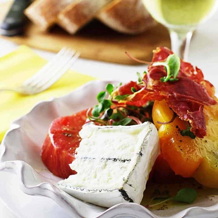 Heirloom Tomato Salad with Aged Goat Cheese