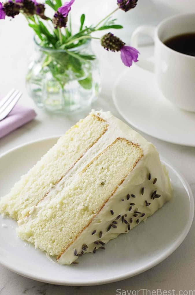 Lavender Cake with Lavender Cream Cheese Icing