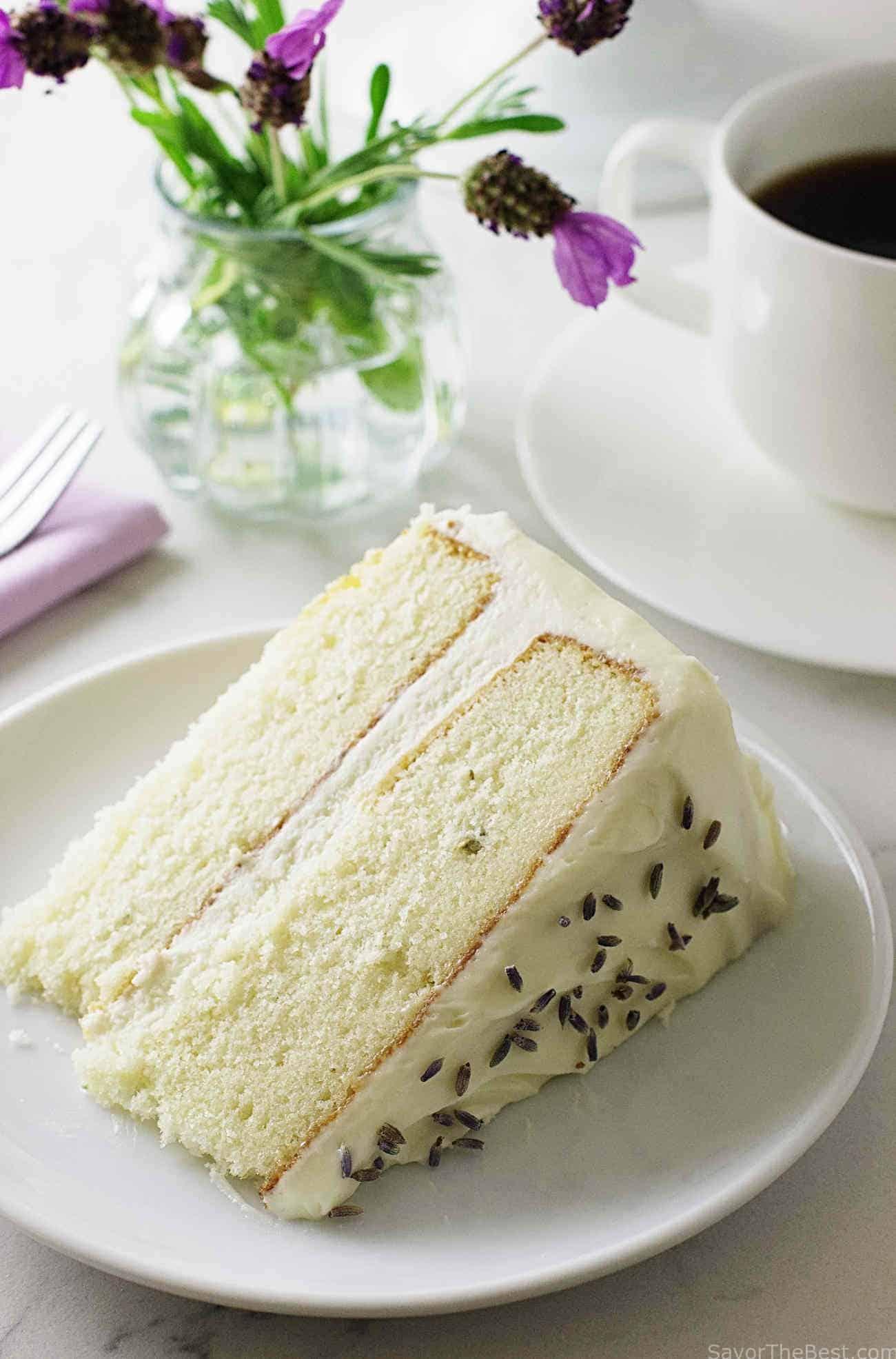 Lavender Lady Birthday Cake