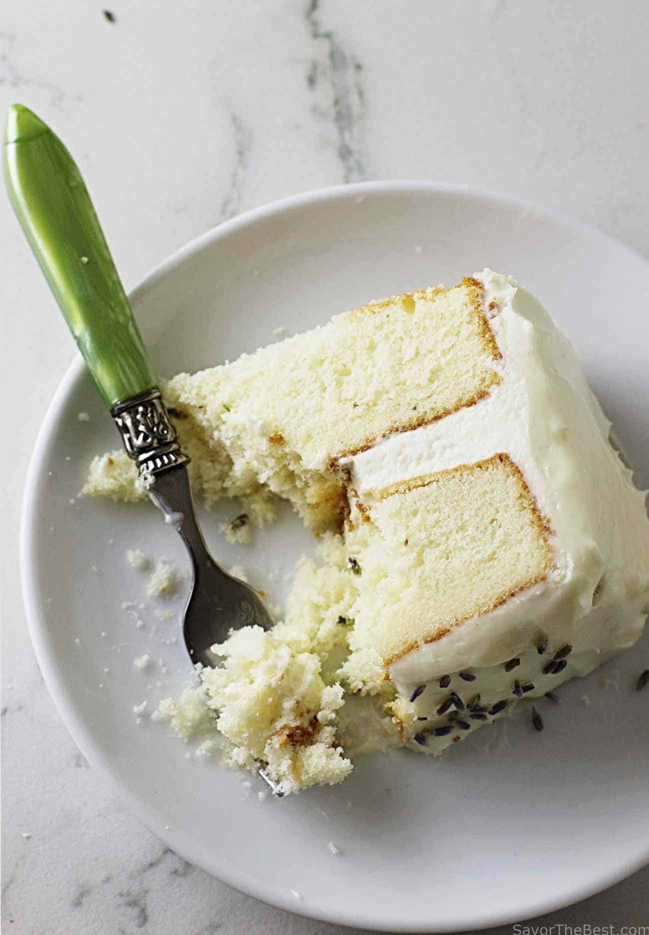 Lavender Cake with Lavender Cream Cheese Icing - Savor the Best
