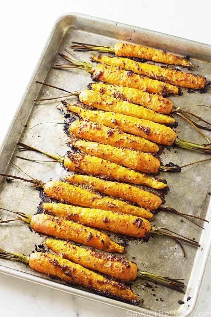Roasted Mustard-Dill Carrots