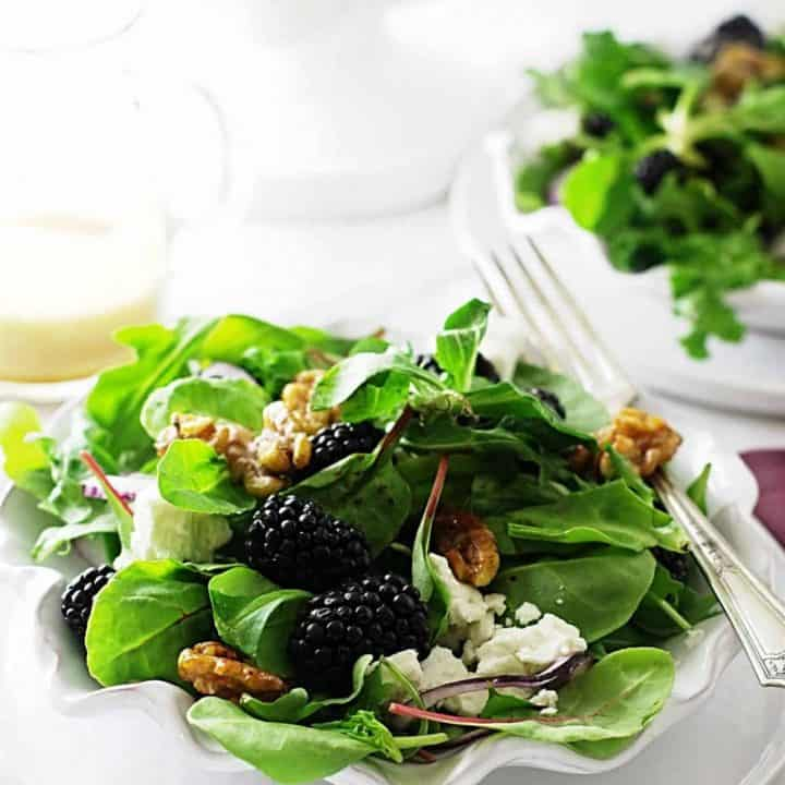 Blackberry-Feta Salad with Mache