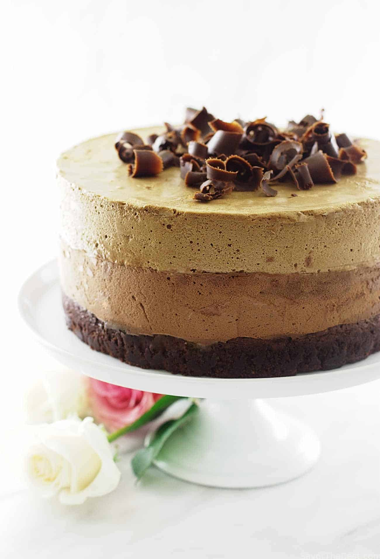 Chocolate Mousse Cake With Crunchy Base