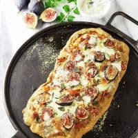Fig, Gorgonzola and Prosciutto Flatbread
