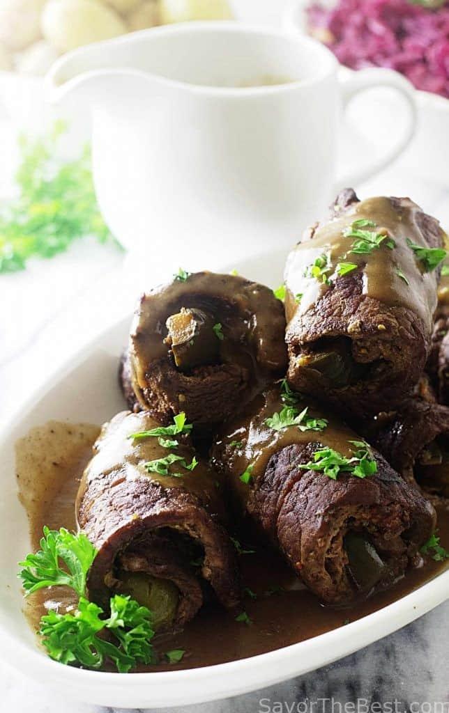 German Style Braised Beef Rolls