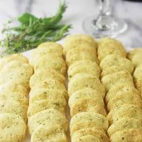Einkorn Parmesan Herb Crackers