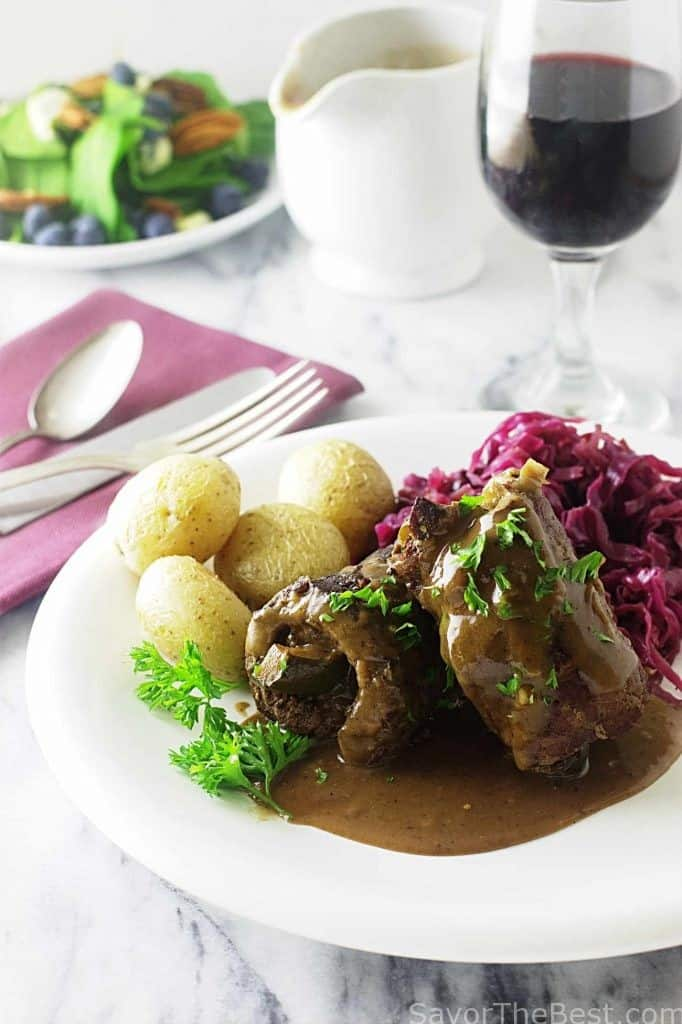 German Style Braised Beef Rolls