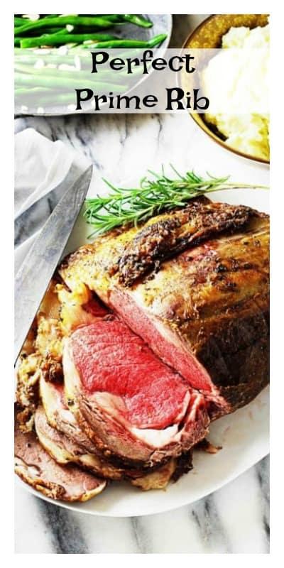 prime rib roast, sliced