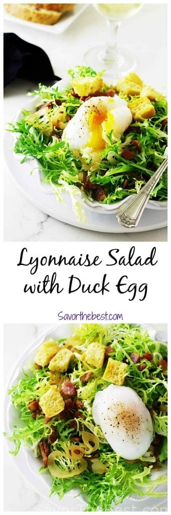 lyonnaise salad with duck egg