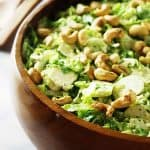 Shaved Brussels Sprout Salad With Casaer Dressing