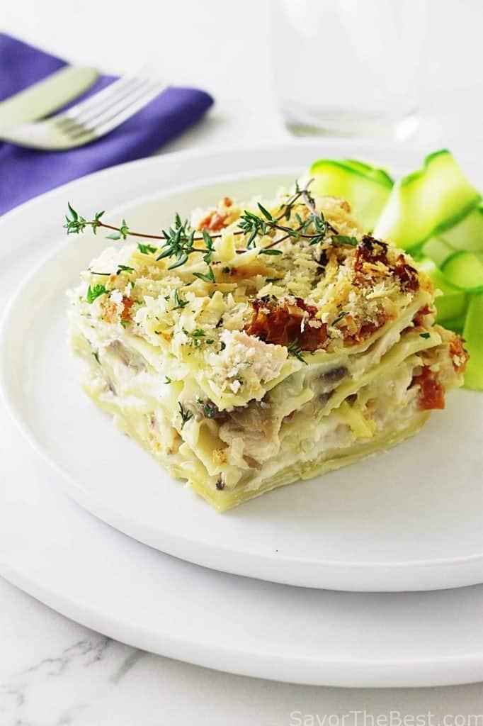 Creamy Chicken Lasagna with Einkorn Noodles