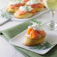 Mascarpone and Smoked Salmon Bruschetta