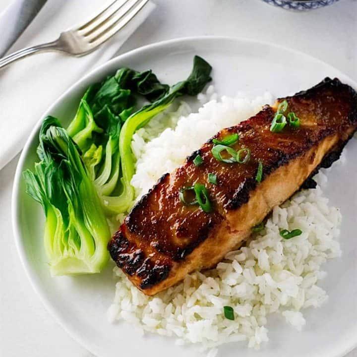Ginger-Miso Glazed Salmon