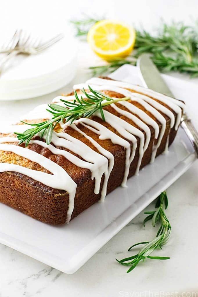 Meyer Lemon-Rosemary Loaf Cake