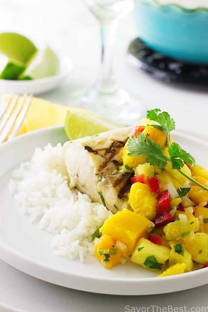 Grilled Mahi-Mahi with Mango Salsa