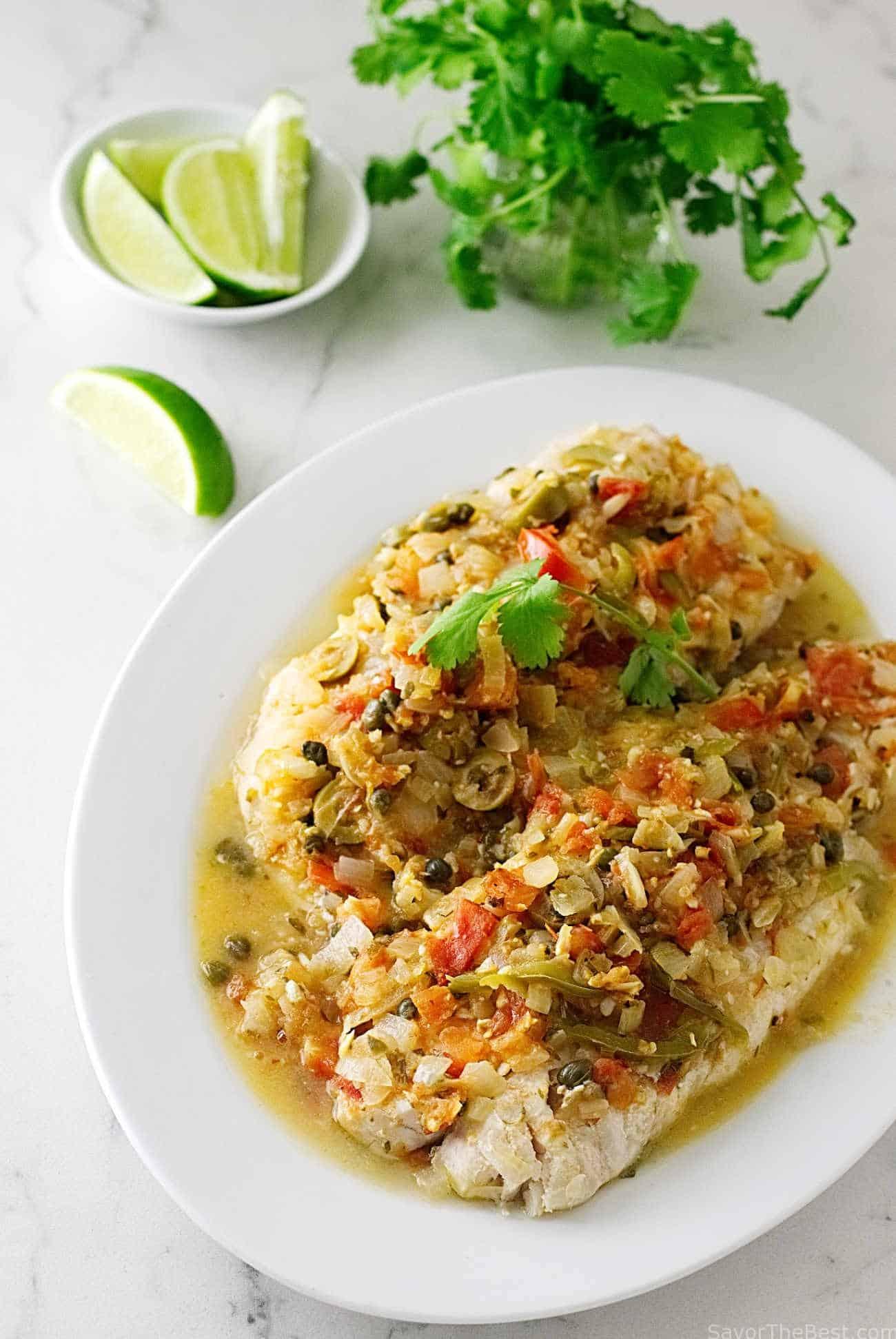 Red snapper veracruz savor the best for Fish veracruz recipe