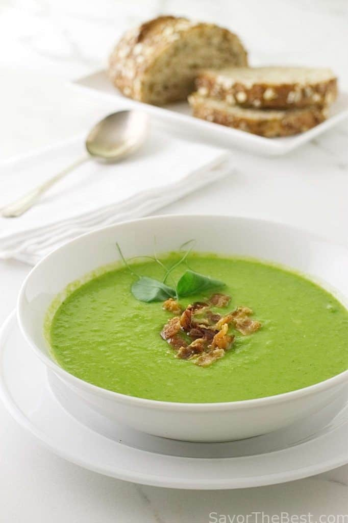 A bowl of pea soup