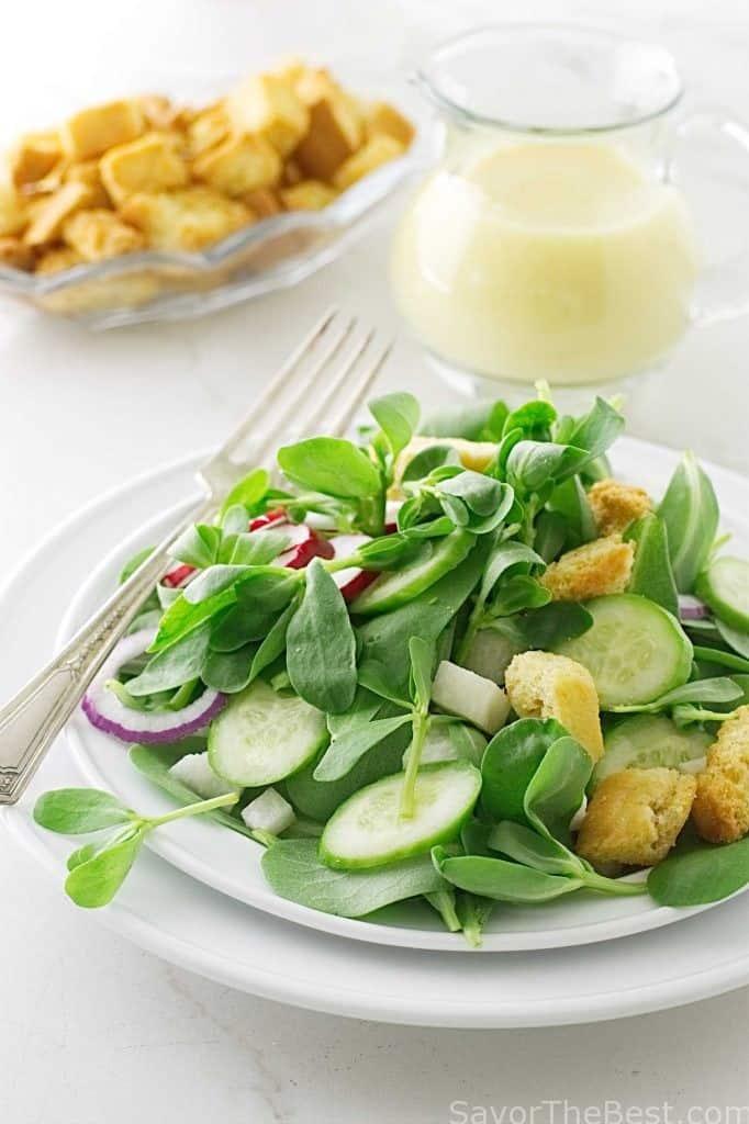 Garden Purslane Salad