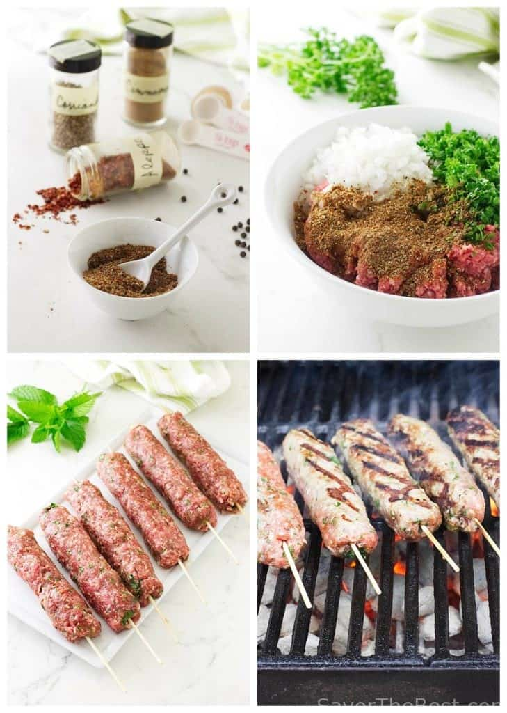 Grilled Lamb Kofta Kabab Sandwiches