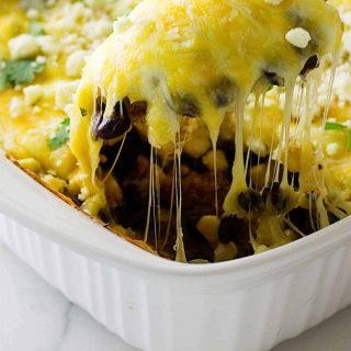 southwest quinoa and black bean casserole