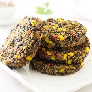 Southwestern Quinoa-Black Bean Breakfast Burger
