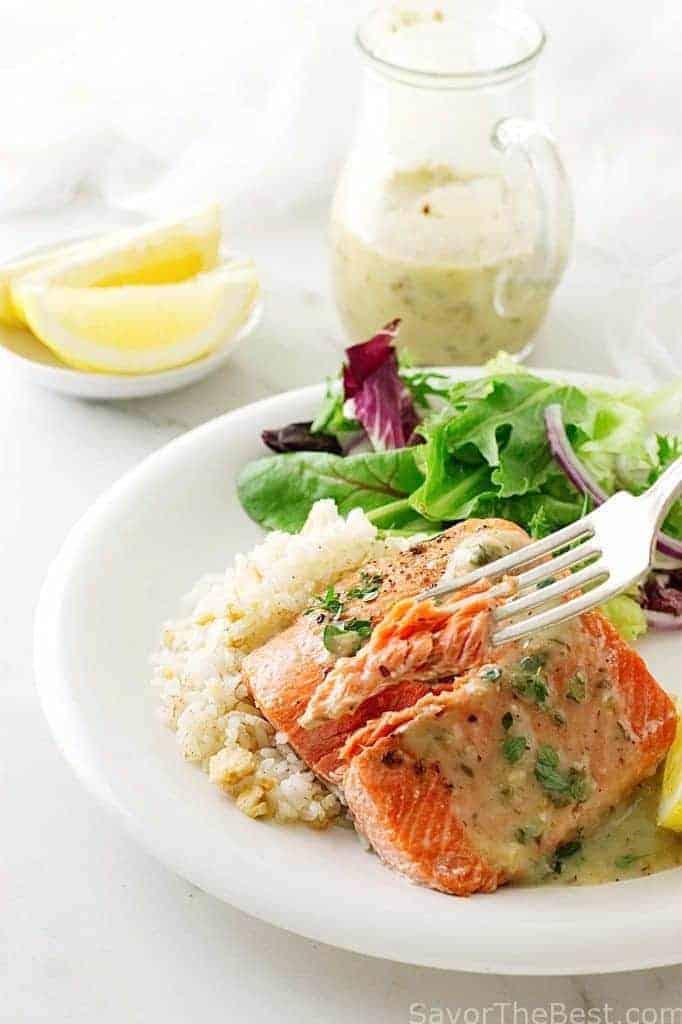 Cedar-Plank Sockeye Salmon with Hazelnut Vinaigrette