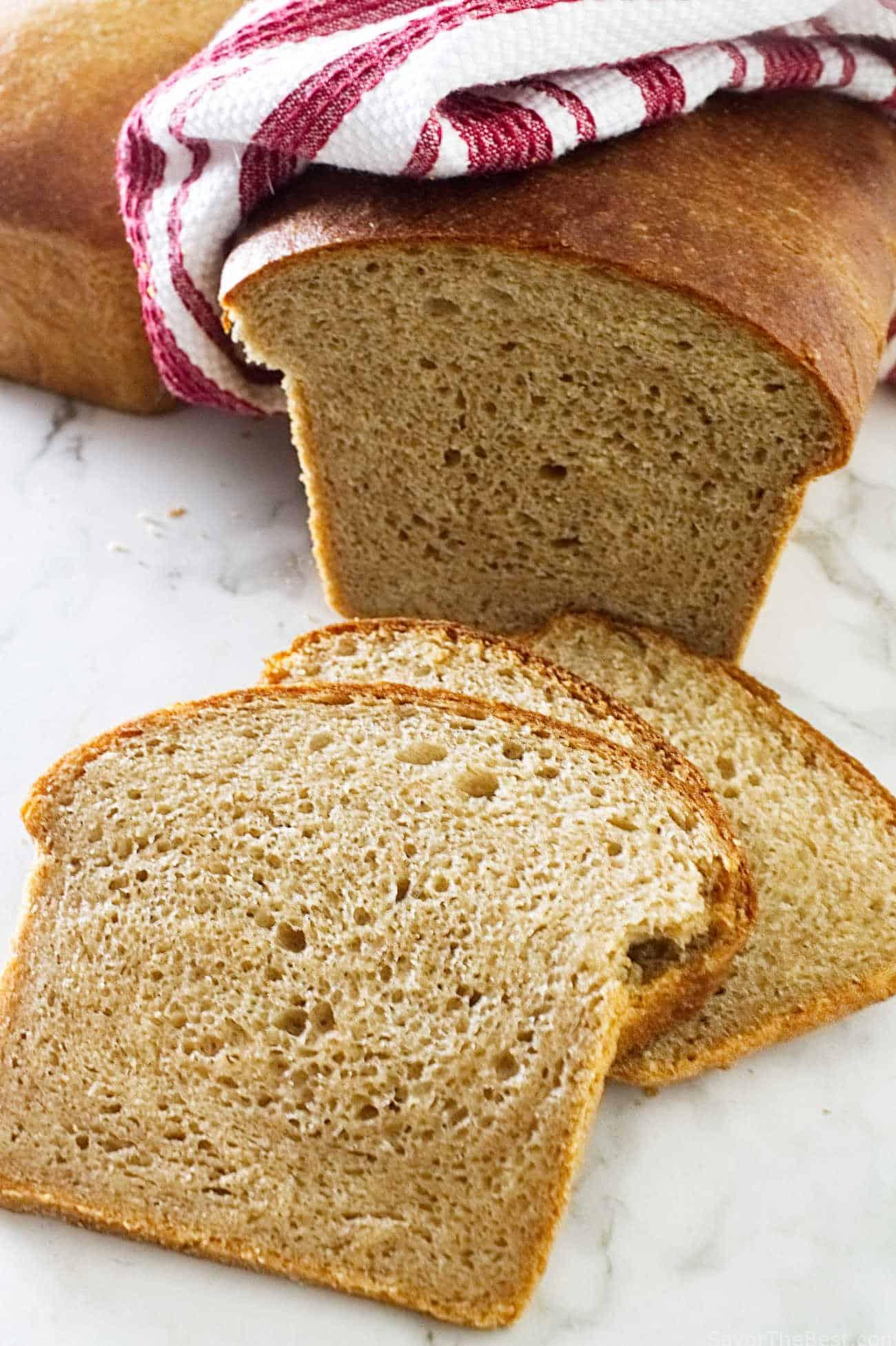 Sprouted wheat buttermilk sandwich bread