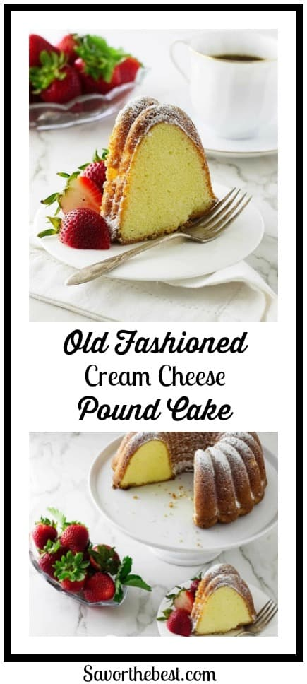 The best pound cake ever! Rich and buttery. Dense yet moist. Just the way a pound cake should taste