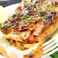 Red Miso-Hoisin Salmon
