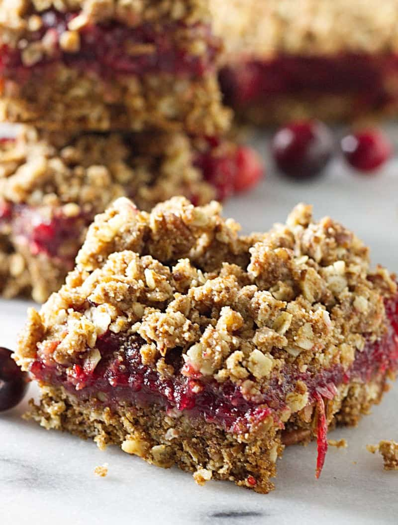 Sprouted Wheat Fresh Cranberry Bars - Savor the Best