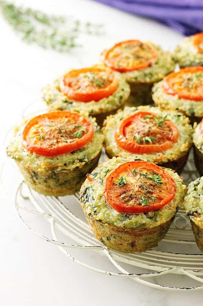 Veggie Quinoa Egg Muffins for Breakfast