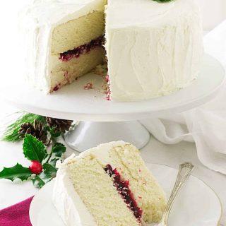 Christmas Cranberry Layer Cake