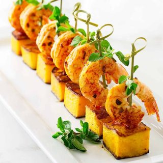 Garlic Shrimp and Butternut Party Bites