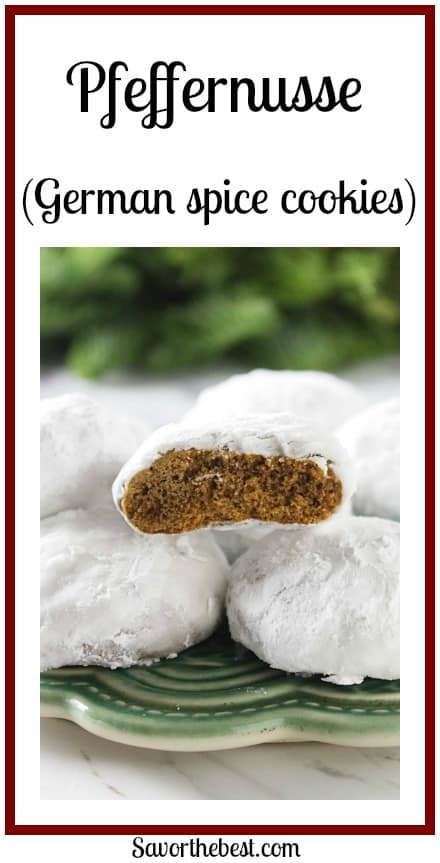 Pfeffernusse (German spice cookies)