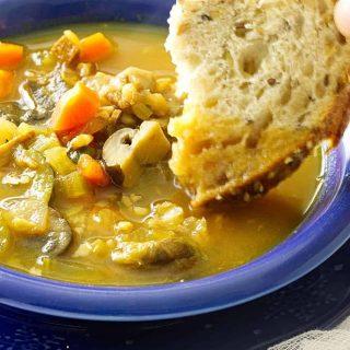 Turkey Vegetable Farro Soup