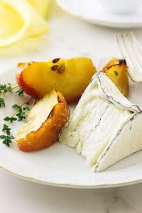 Roasted Apples and Aged Goat Cheese