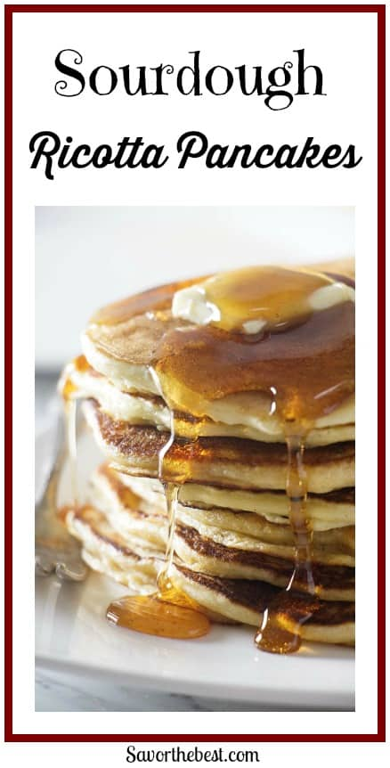 Sourdough Ricotta pancake recipe is an excellent way to use up that excess sourdough starter.