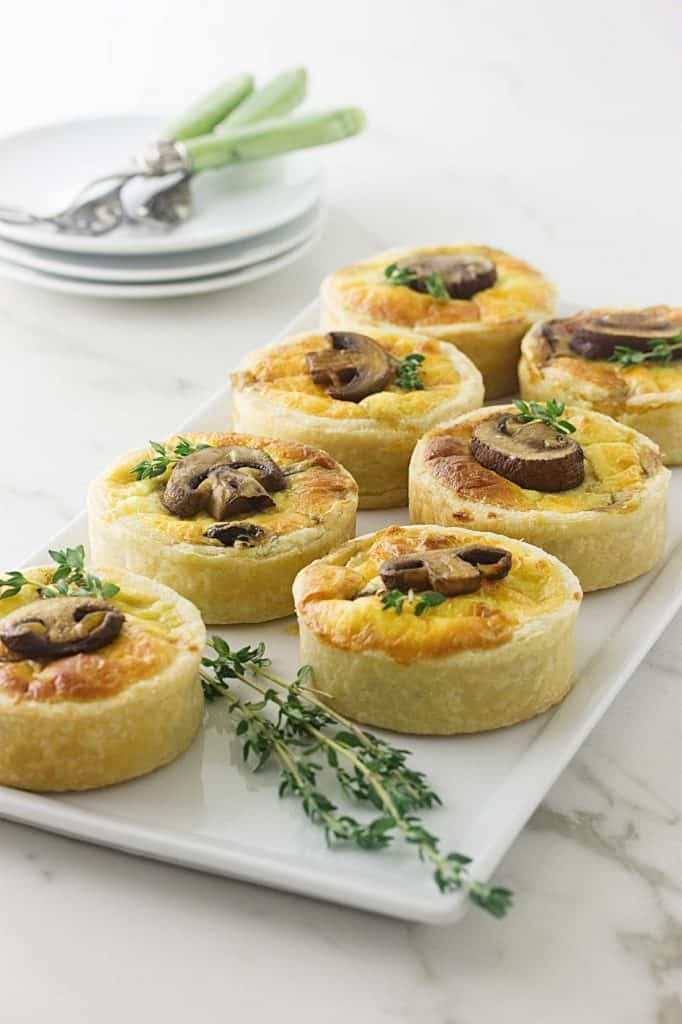 Mushroom Goat Cheese and Thyme Tartlette