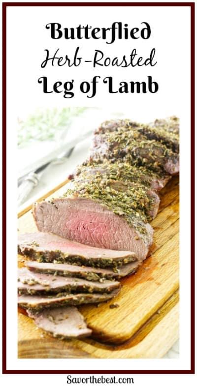 Butterflied Herb-Roasted Leg of Lamb