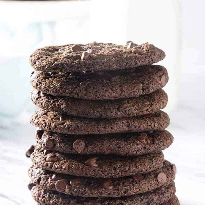 Crispy Double Chocolate Cookies