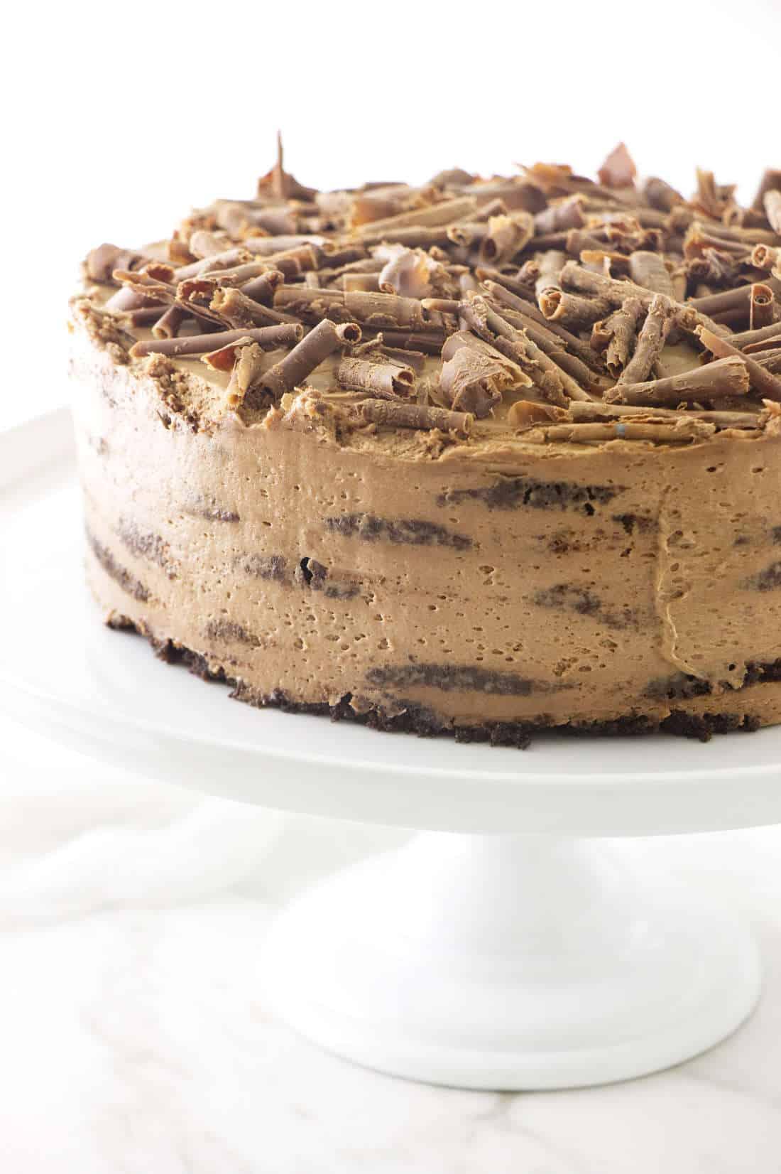 Chocolate Peanut Butter Refrigerator Cake