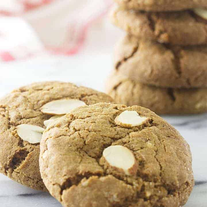 Triple Ginger-Almond Cookies