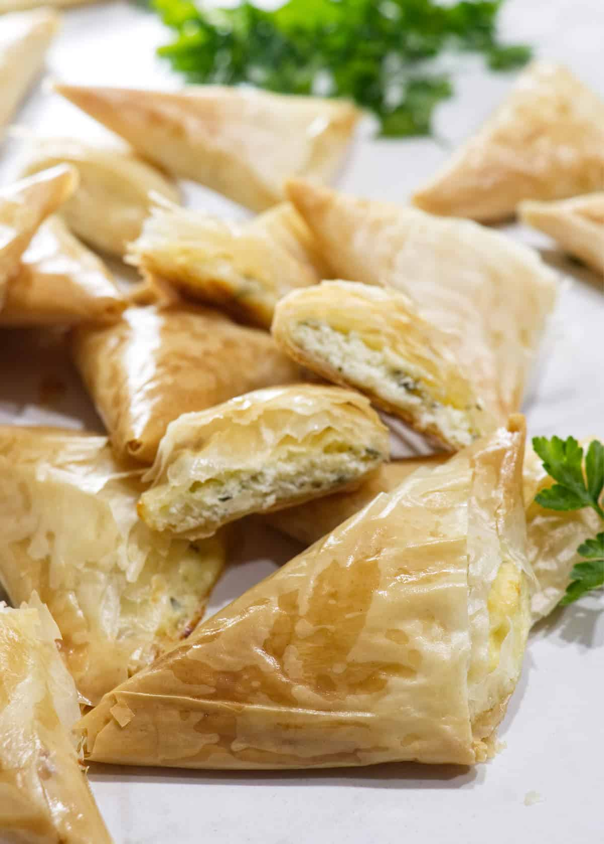 Greek Cheese Triangle Pies (Tiropita)