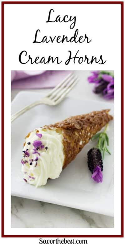 Lacy Lavender Cream Horns