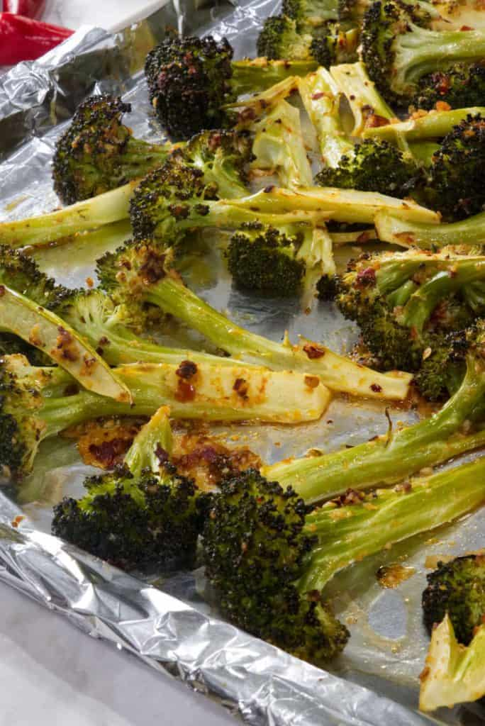 roasted lemon-chili broccoli