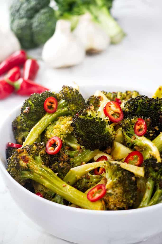 roasted lemon-chili broccoli
