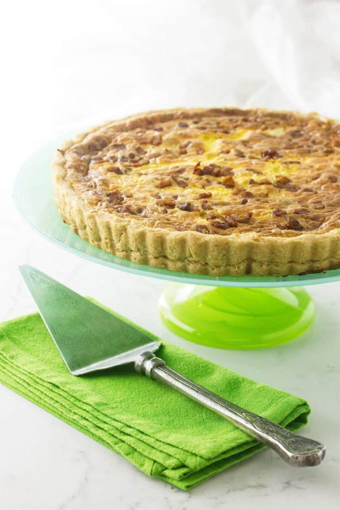 Leek Bacon and Goat Cheese Quiche