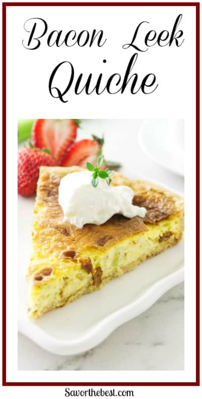 Leek, Bacon and Goat Cheese Quiche