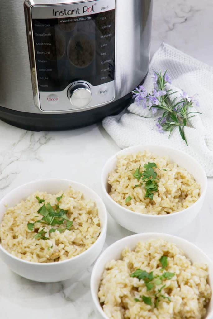 Instant Pot Sprouted Brown Rice